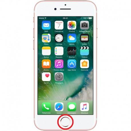 [Réparation] Nappe de Bouton HOME Blanc / Or Rose ORIGINALE - iPhone 7