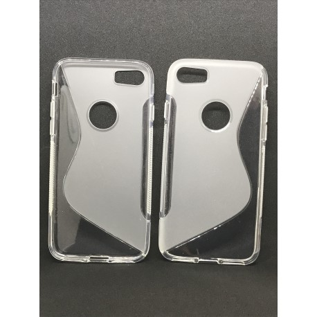 Coque Silicone S-Line Transparente pour iPhone 6 / 6S / 7 / 8 - Présentation avant / arrière