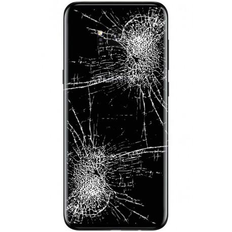 [Réparation] Vitre Arrière ORIGINALE Noire Carbone - SAMSUNG Galaxy S8+ - SM-G955F