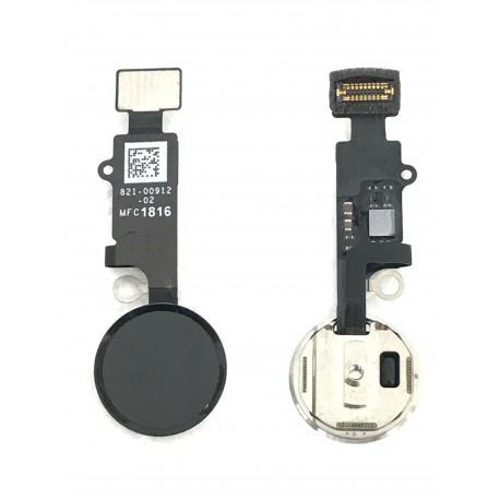 Nappe de bouton HOME Noir de Jais Complète + Touch ID ORIGINAL - iPhone 7 / 7 Plus