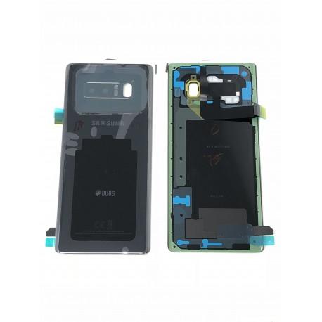 Vitre Arrière ORIGINALE Noire Carbone - SAMSUNG Galaxy Note8 / SM-N950F/DS