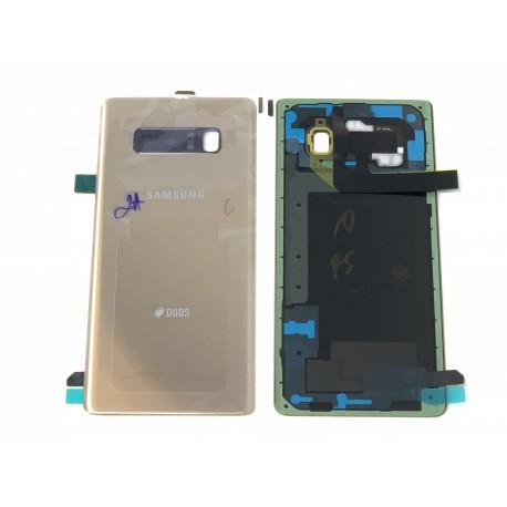 Vitre Arrière ORIGINALE OR Topaze - SAMSUNG Galaxy Note8 / SM-N950F/DS
