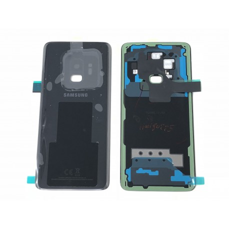 Vitre Arrière ORIGINALE Noire Carbone - SAMSUNG Galaxy S9 / SM-G960F