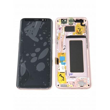 Bloc écran ORIGINAL Rose Poudré pour SAMSUNG Galaxy S8 - G950F - Présentation avant / arrière