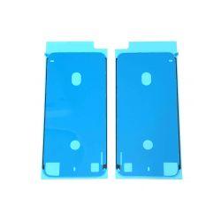 Adhésif double face Blanc de bloc écran pour iPhone 8 - Présentation avant / arrière