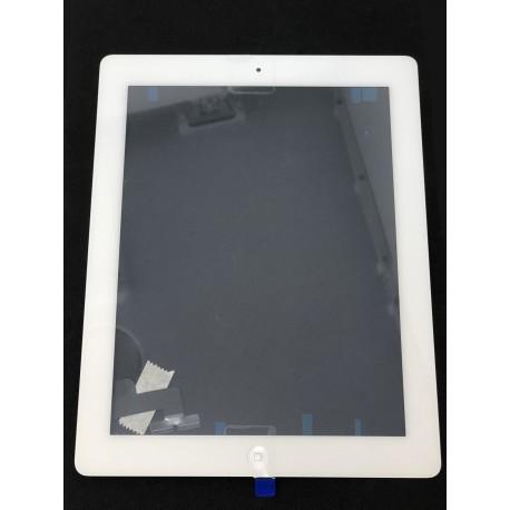 Vitre tactile qualité originale Blanche avec adhésifs pour iPad 2 - Présentation Avant