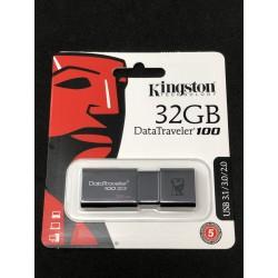 Clé USB 3.1 Kingston DataTraveler 100 de 32GB