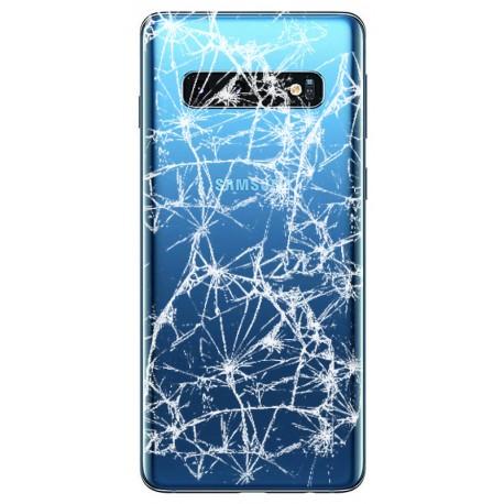 [Réparation] Vitre arrière ORIGINALE Bleue Prisme pour SAMSUNG Galaxy S10 - G973F