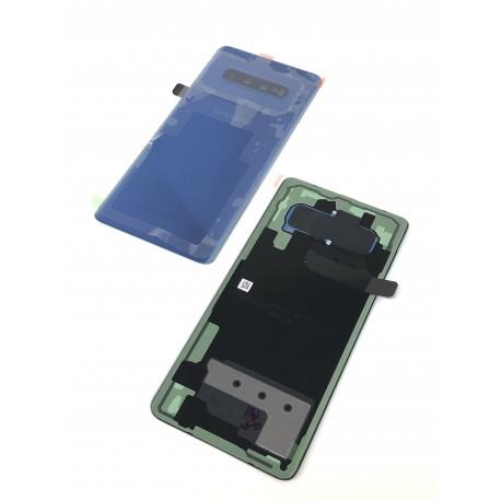 Vitre arrière ORIGINALE Bleu Prisme pour SAMSUNG Galaxy S10+ - G975F - Présentation avant / arrière