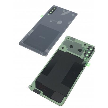 Vitre arrière ORIGINALE Noire pour SAMSUNG Galaxy A7 2018 DUOS - A750F - Présentation avant / arrière