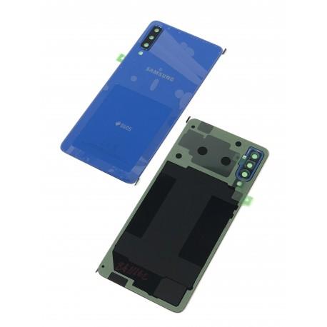 Vitre arrière ORIGINALE Bleue pour SAMSUNG Galaxy A7 2018 DUOS - A750F - Présentation avant / arrière