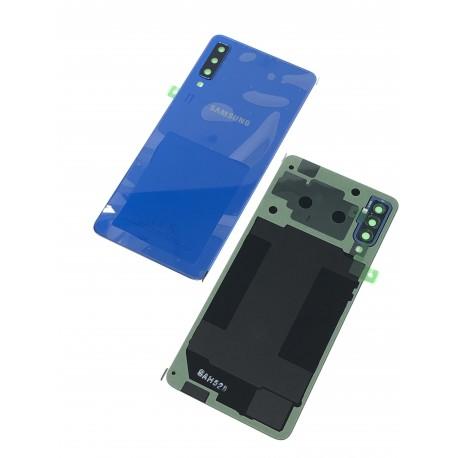 Vitre arrière ORIGINALE Bleue pour SAMSUNG Galaxy A7 2018 - A750F Présentation avant / arrière