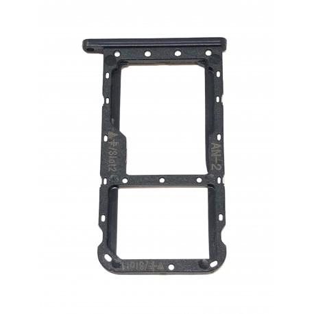 Tiroir de carte double SIM et carte SD noir ORIGINAL pour HUAWEI P20 Lite - Présentation avant
