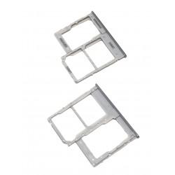 Tiroir de carte double SIM et carte SD Blanc ORIGINAL pour SAMSUNG Galaxy A40 - A405F