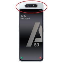 Cache arrière du slide ORIGINALE Argent pour SAMSUNG Galaxy A80 - A805F - Présentation de la position de la pièce