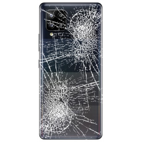 [Réparation] Vitre arrière ORIGINALE Noir Prismatique pour SAMSUNG Galaxy A42 5G - A426B à Caen