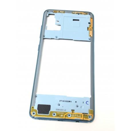 Châssis intermédiaire ORIGINAL avec contour Bleu Prismatique pour SAMSUNG Galaxy A51 - A515F - Présentation extérieure