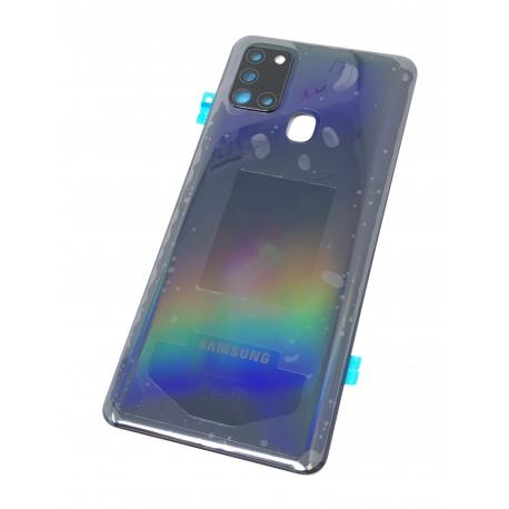 Vitre arrière ORIGINALE Noir Prismatique pour SAMSUNG Galaxy A21s - A217F - Présentation avant