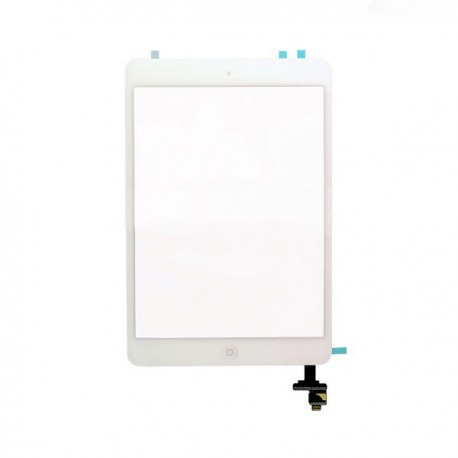 Vitre Tactile ORIGINALE Blanche + Adhésifs - iPad Mini