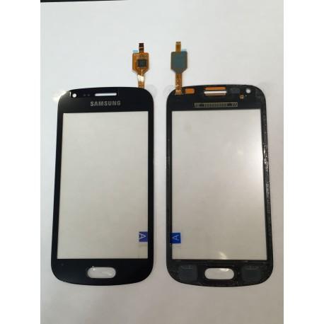 Vitre Tactile ORIGINALE Noir + Adhésifs - SAMSUNG Galaxy TREND LITE - S7390