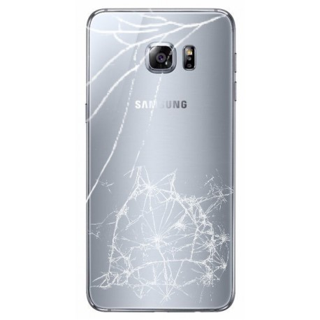 [Réparation] Vitre Arrière ORIGINALE Grise - SAMSUNG Galaxy S6 Edge Plus - G928F